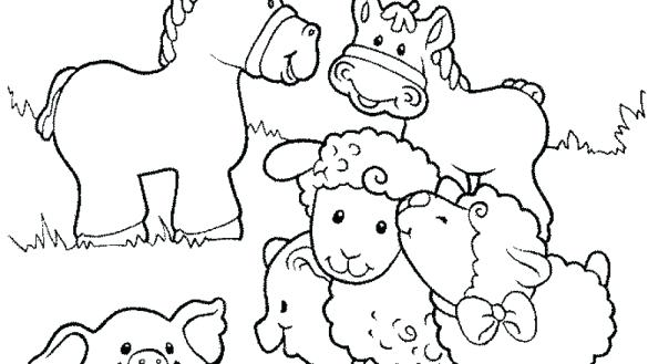 Farm Animals Worksheet Kindergarten Printable Coloring Coloring