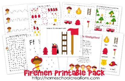 Firemen Learning Printables