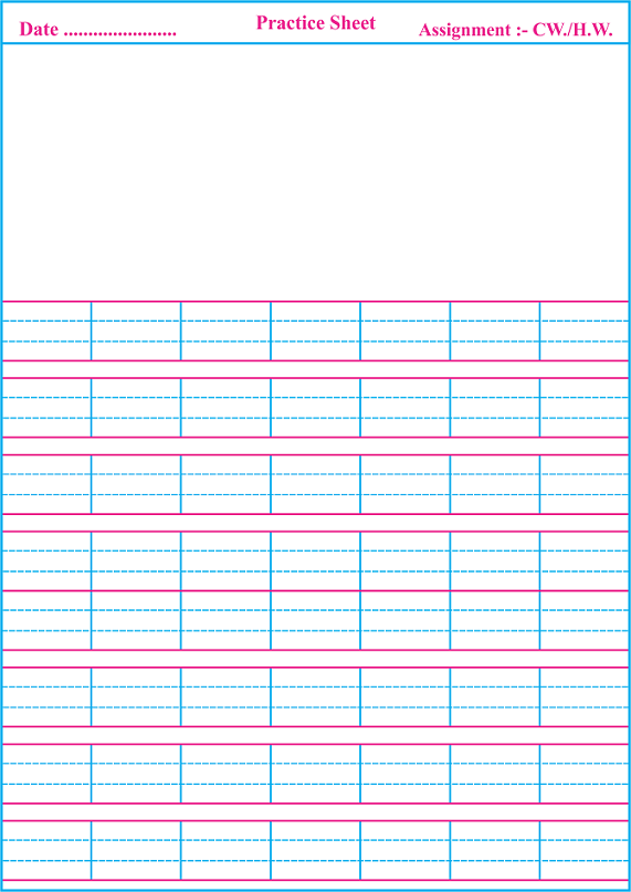 Four Line Pages For Handwriting Printable Cursive Paper