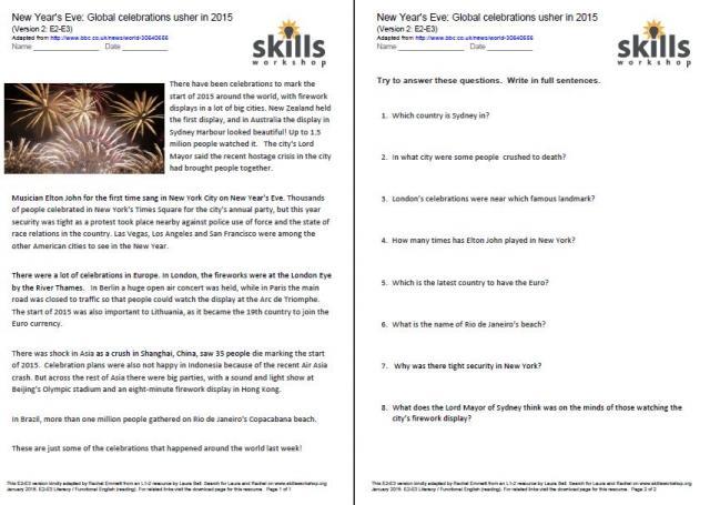 Free Comprehension Worksheets Year 2 Uk
