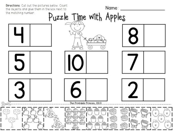 Free Cut And Paste Math Worksheets For Kindergarten