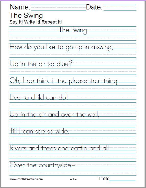 Free Handwriting Worksheets 60 Cursive Handwriting Sheets 150