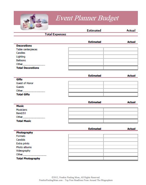 Free Printable Budget Worksheets – Download Or Print