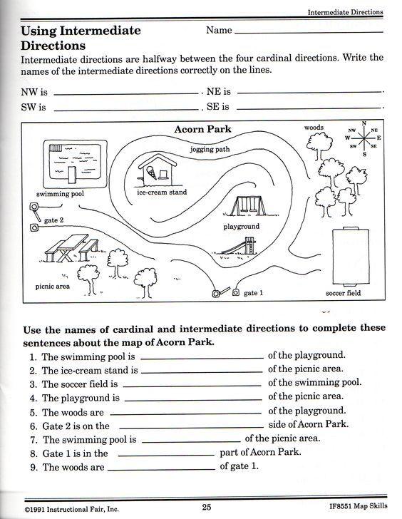 Free Printable Grid Map Worksheets