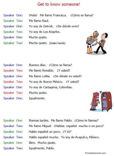 Free Printable Spanish No More – Printable Spanish