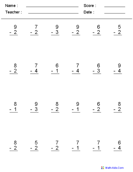 Free Printable Touch Math Worksheets The Best Worksheets Image