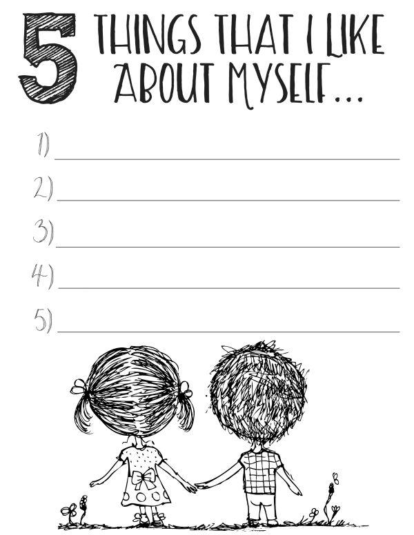 Free Printable Worksheets Free Printable Self Esteem Worksheets