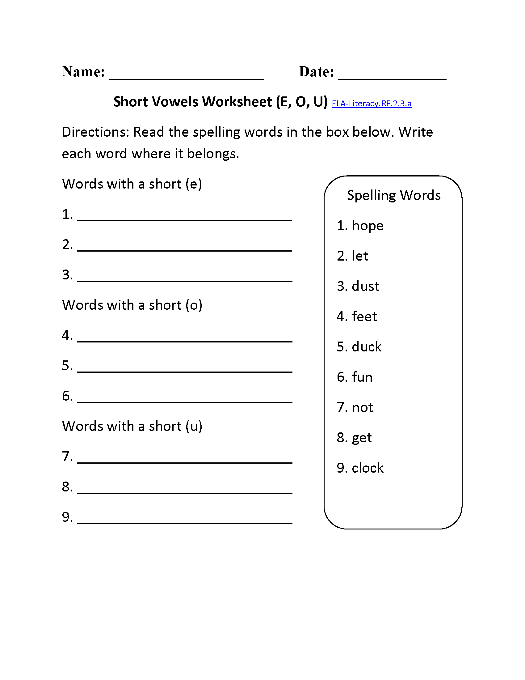 Free Second Grade Phonics Worksheets The Best Worksheets Image