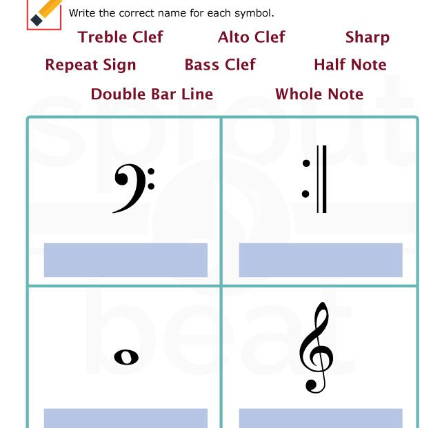 Fun And Learn Music » Music Worksheets – Musical Terms And Symbols