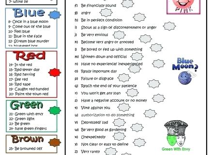 Gardening Printables Color Idioms Worksheet Gallery For Idioms