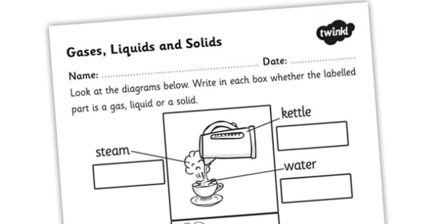 Gases Liquids And Solids Worksheet
