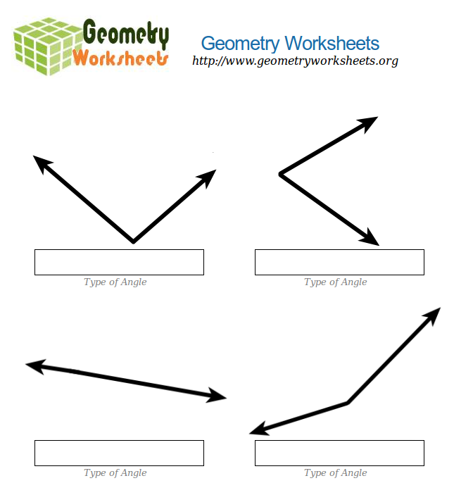 Geometry Worksheets For Acute And Obtuse Angles 2