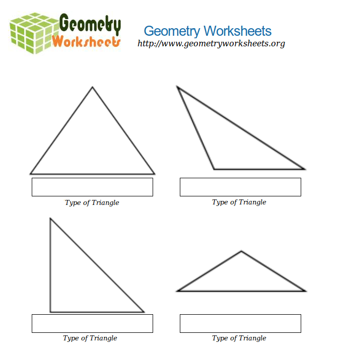 Geometry Worksheets For Types Of Triangles 1