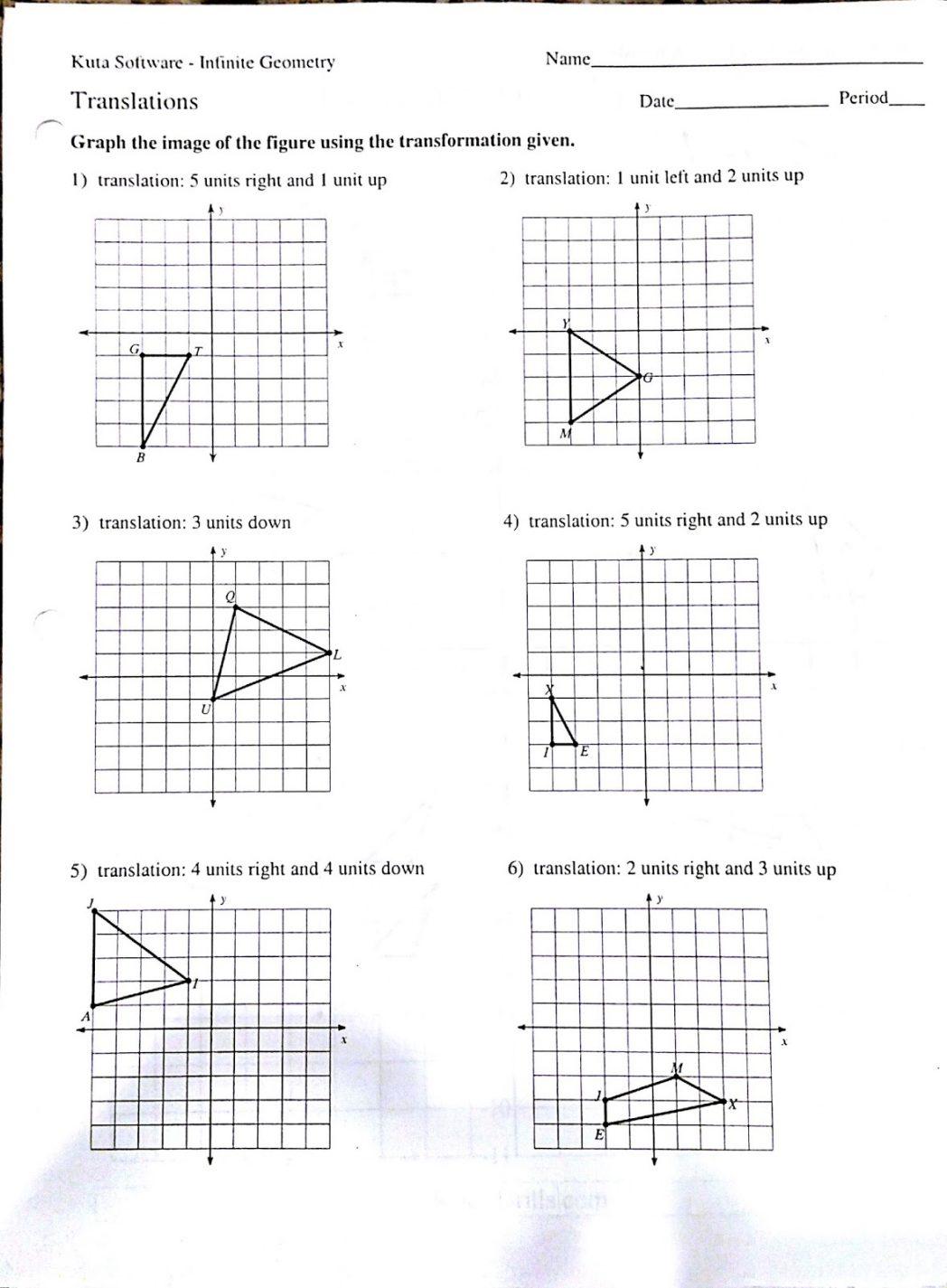 Glide Reflection Worksheet