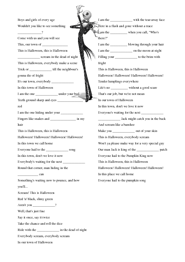 Halloween Grammar Worksheets The Best Worksheets Image Collection