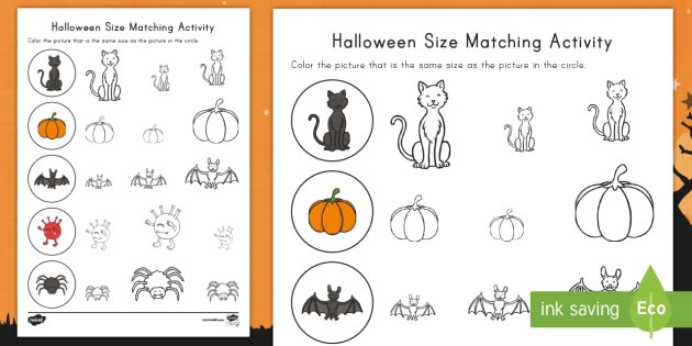 Halloween Themed Worksheets