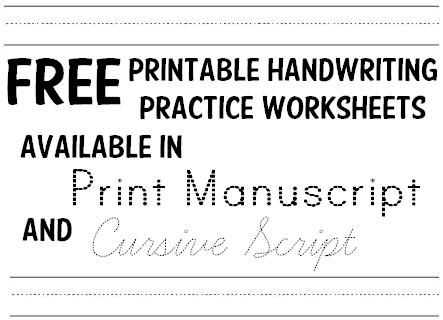 Handwriting Practice Name