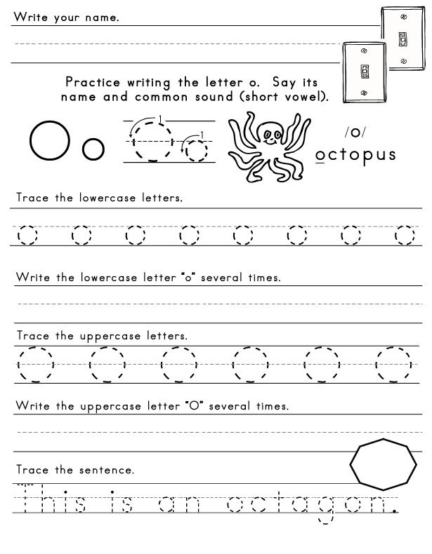 Handwriting Worksheets Letter O 249367