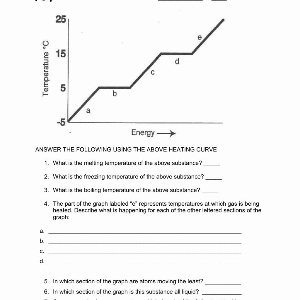 Heating Curve Worksheet