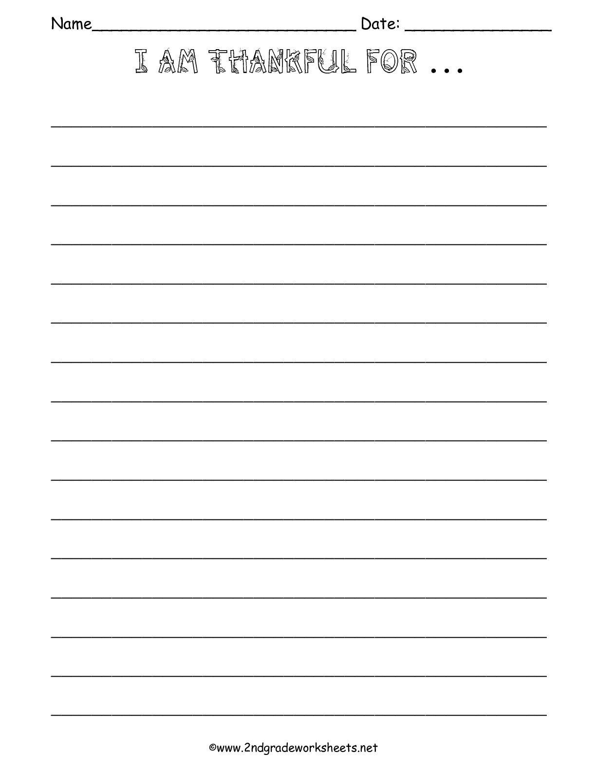 I Am Thankful Worksheet The Best Worksheets Image Collection