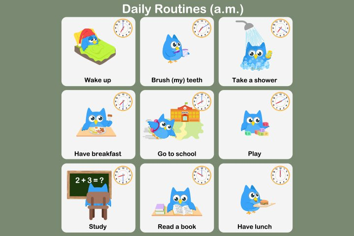 Impressive My Daily Routines Worksheets For 10 Free English
