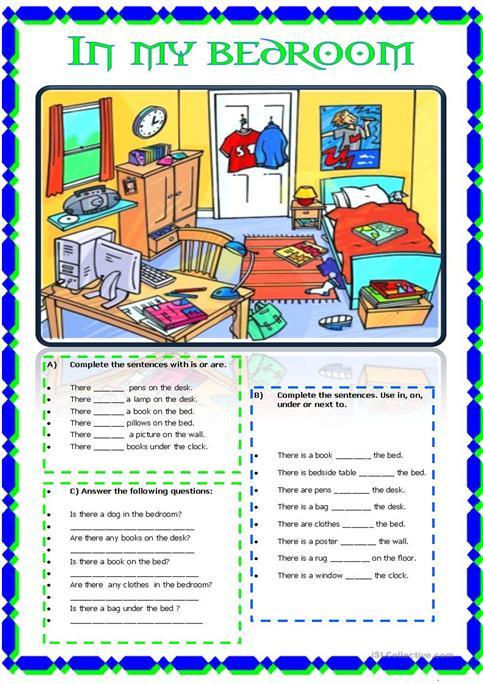 In My Bedroom Worksheet