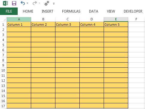 Inserting Columns In Excel Worksheet Using Vba