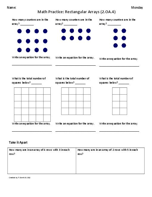 Inspiration Free Division Worksheets For 2nd Graders In Array