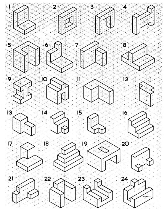 Isometric And Orthographic Drawing Worksheets On Isometric