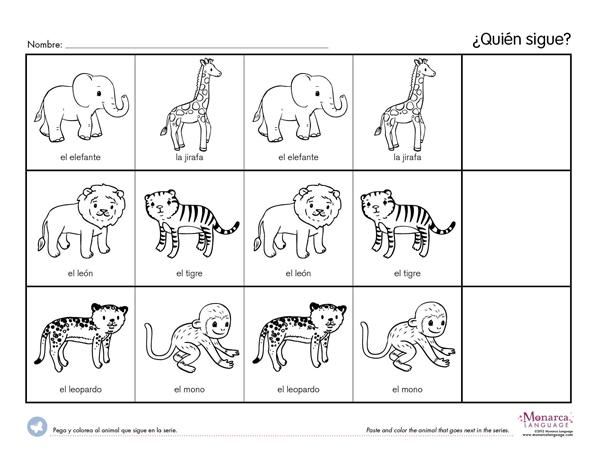 Jungle Animals  3s Printables