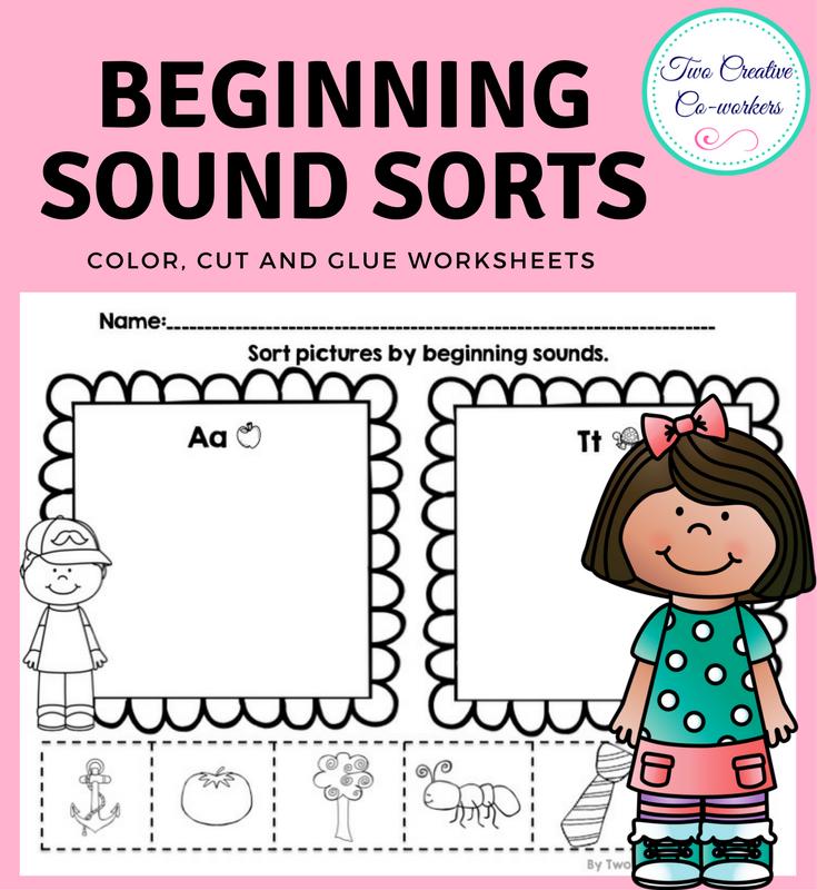 Kindergarten Beginning Sound Sort Worksheets 140943