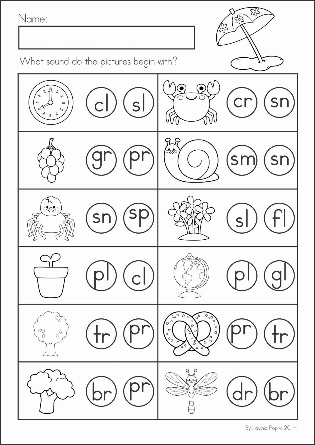 Kindergarten Blends Worksheets The Best Worksheets Image