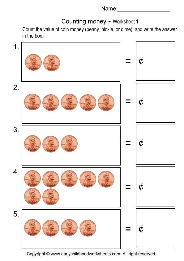 Kindergarten Coin Worksheets Powerful So Money The Quarters 1