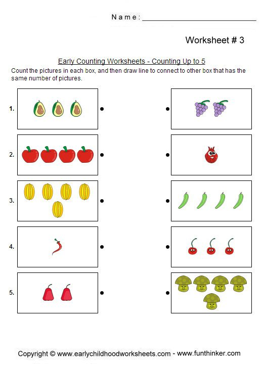 Kindergarten Counting Worksheets 1 5 The Best Worksheets Image