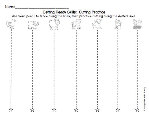 Kindergarten Cutting Worksheets Practical And Concept Worksheet