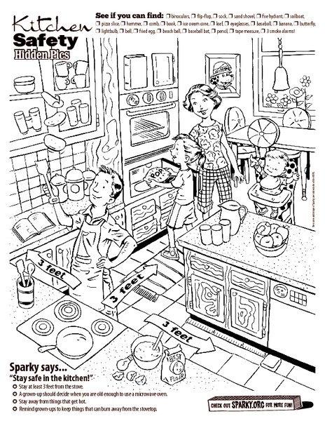 Kitchen Safety For Kids Worksheets The Best Worksheets Image