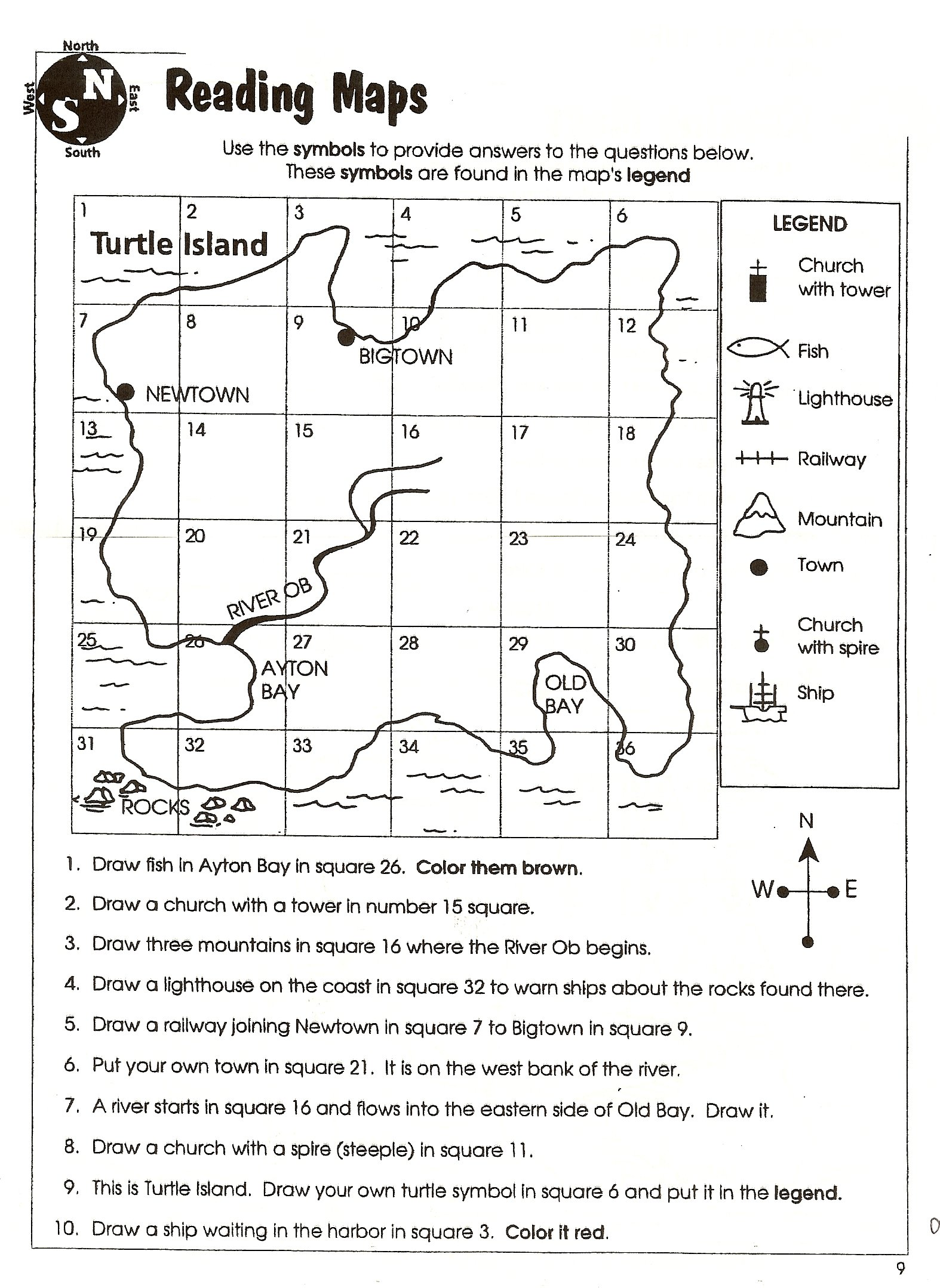Latitude Longitude Worksheets 6th Grade
