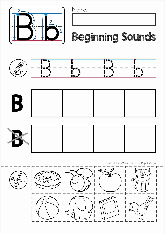 Letter B Phonics Worksheet