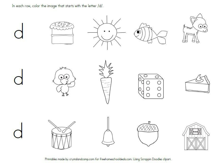 Letter D Worksheets Sb23 Sparklebox Worksheet