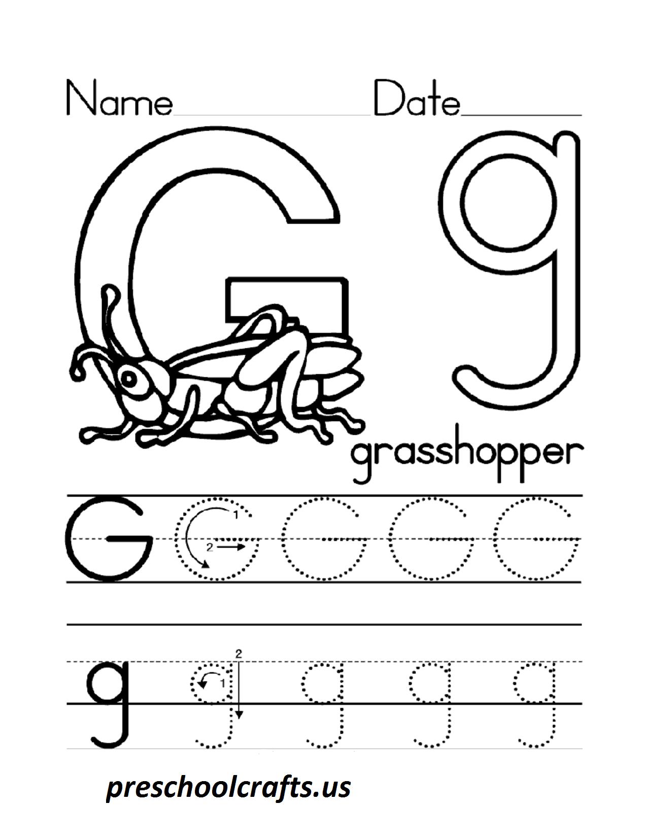 Letter G Preschool Worksheet The Best Worksheets Image Collection