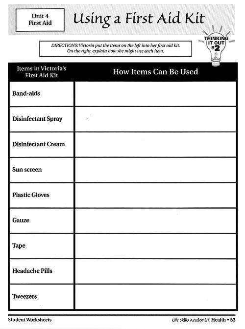 Life Skills Worksheets Worksheets For Life Skills Worksheets For