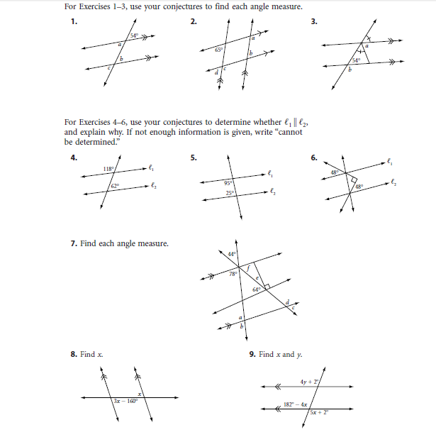 Line And Angle Relationships Worksheet Answers The Best Worksheets