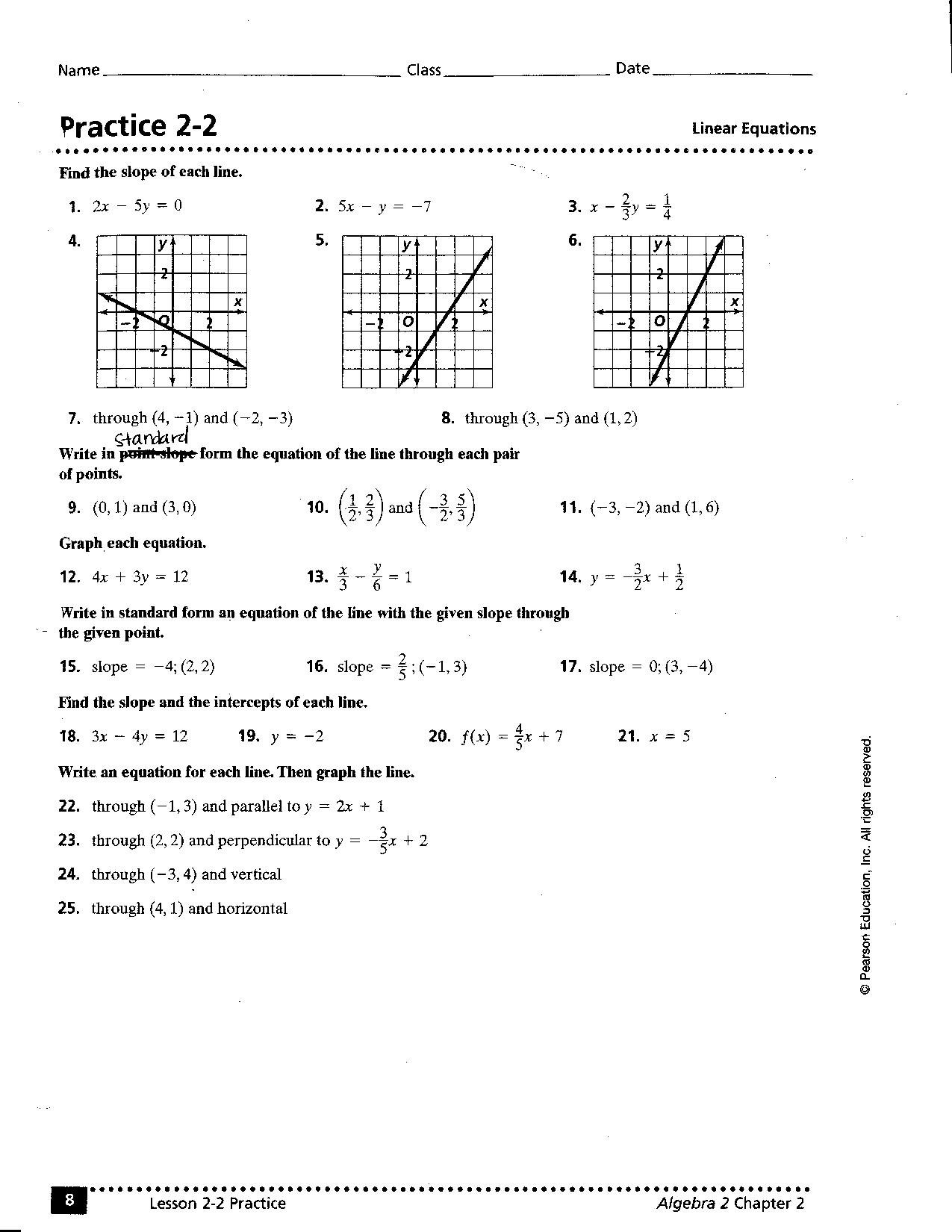 Linear Equation Worksheets With Answers The Best Worksheets Image