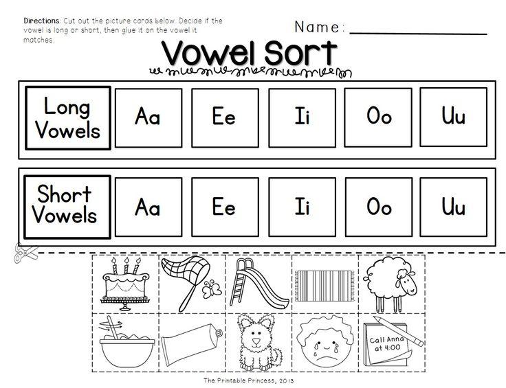 Long Vowel Worksheets For Kindergarten