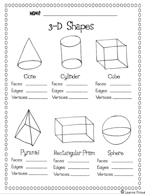 Love This  Printable On Shapes  Easy Practice!