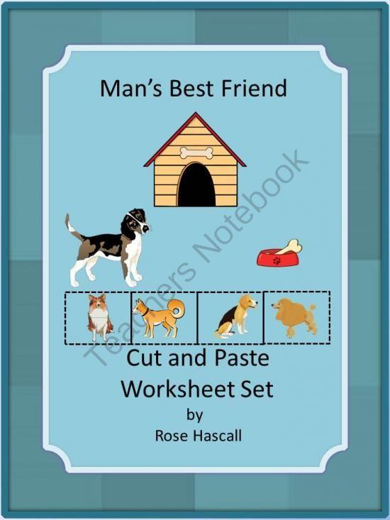 Man's Best Friend Cut And Paste Worksheet Set Pk,k,special