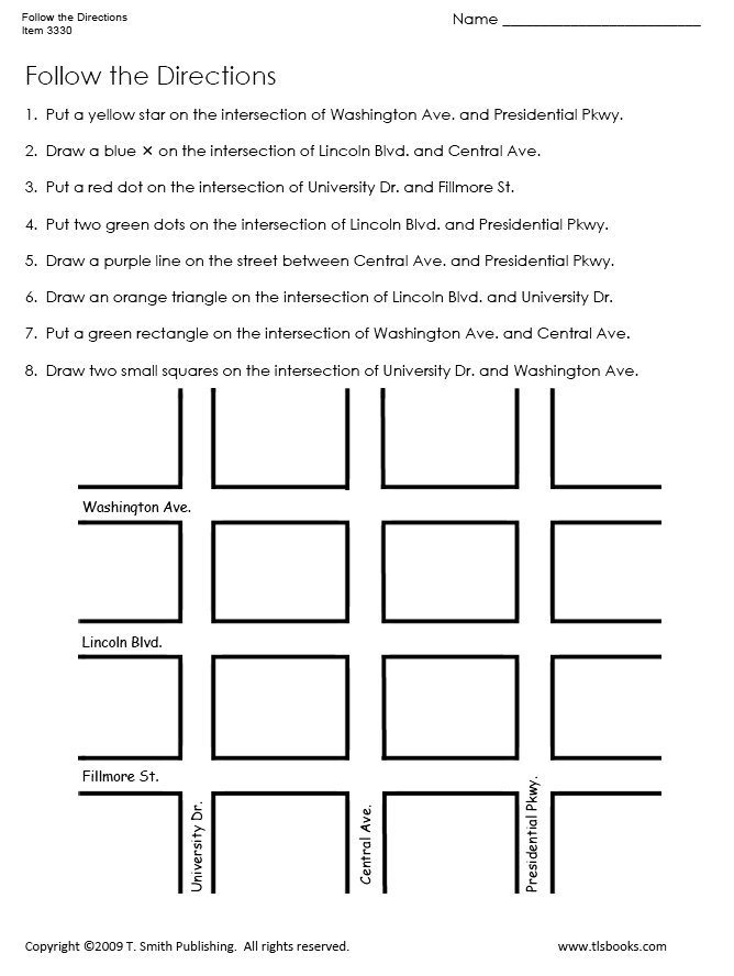 Map Direction Worksheets The Best Worksheets Image Collection