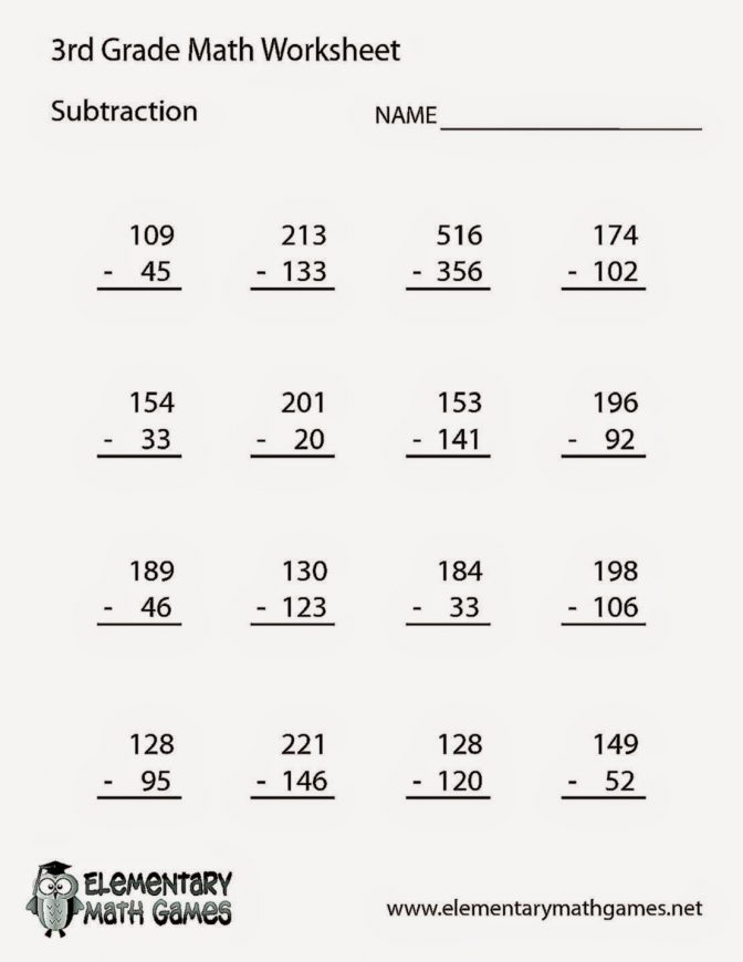 Math For Third Graders Worksheets The Best Worksheets Image