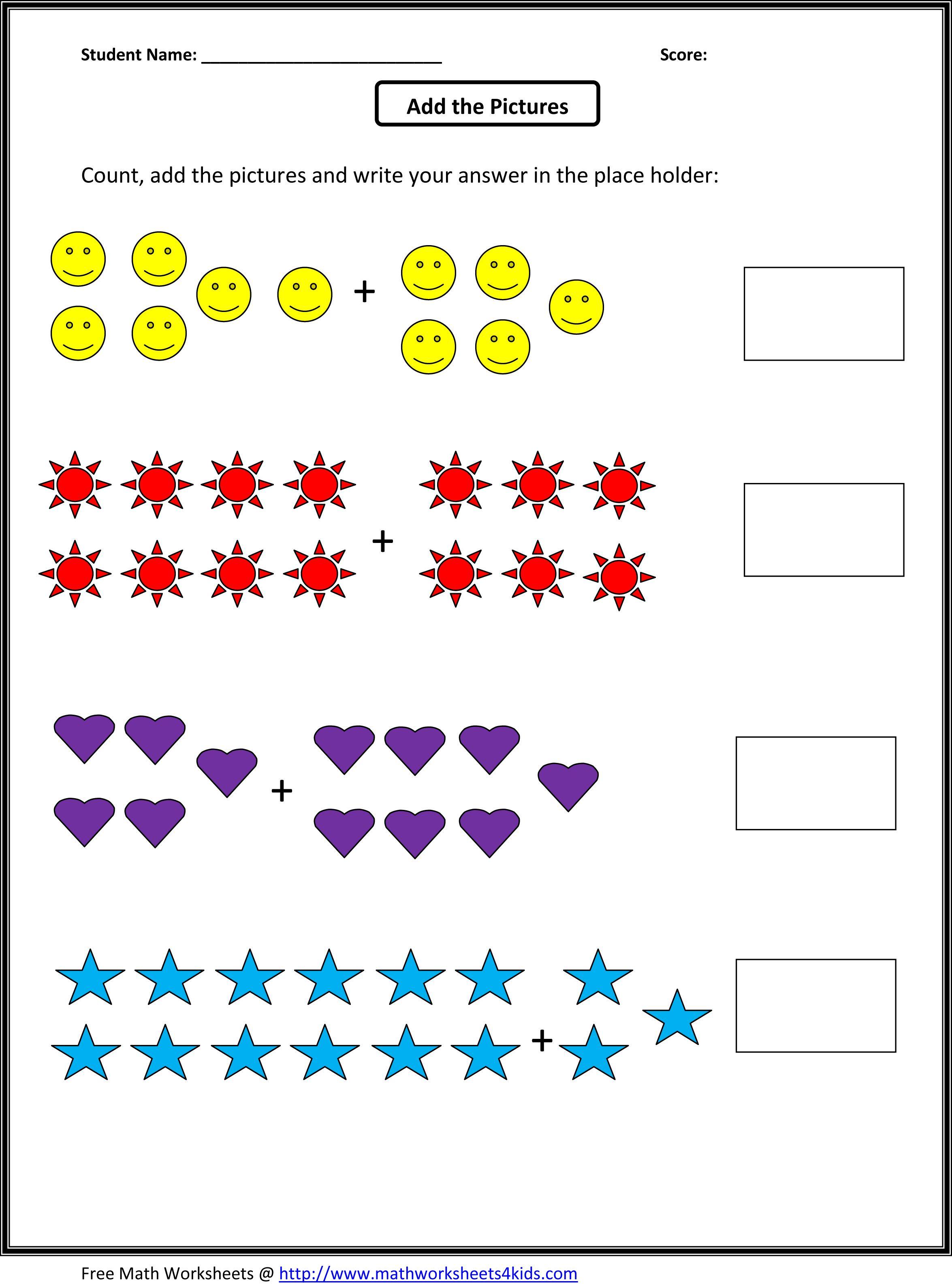 Math Worksheets For Grade 1 On Addition 314105