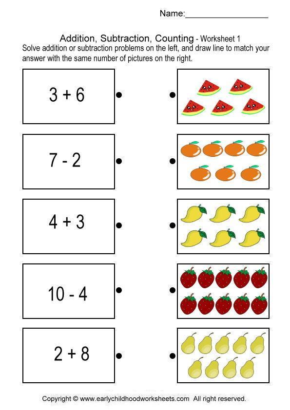 Math Worksheets For Grade 1 Printable Math Worksheets For Grade 1